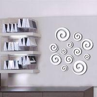 PVC bedroom wall stencils - x60cm Novelty Cloud Pattern Wall Decal D Mirror Sticker office Wall Stencils DIY WALL STICKER