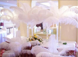 White Ostrich Feather,100pcs lot ,ostrich plume wedding center pieces Natural Ostrich Feather Pure White Wedding Decoration Eiffel Centerpie