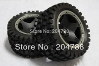Cheap Free shipping , baja 5B tire Monster tire rear completed set with black rim