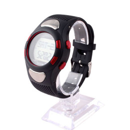 Wholesale LCD Men Women Fit D Sports Watches Pulse Heart Rate Monitor Watch With Pedometer Calories Counter