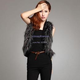 Wholesale S M L XL Faux Fur Vest Waistcoat Women Winter Fur Coats Jacket Clothing SV006197