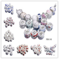 Wholesale Details about Murano Porcelain Ceramics Spacer Beads For DIY Jewelry Bracelets Making R703