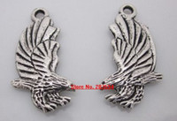 Wholesale S11027 Tibet Silver eagle charms metal eagle charms x13mm