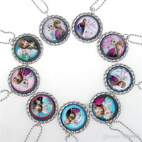 cameo necklace - 2014 Hot Sales Frozen Necklace Princess Pendants Cartoon Flatback Cameo Cabochons Baby Kids Elsa Anna sunshine_boy