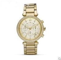 Wholesale New Luxury brand Gold Steel Quartz casual watches women rhinestone dress wristwatch lady men military watch