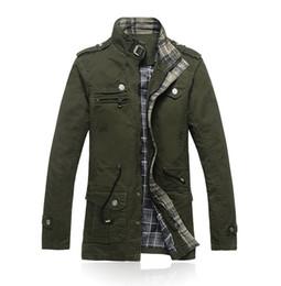 Wholesale Men s Autumn Winter Jacket Turn down Collar Pockets Zippers New Arrival Men s Fashion Jacket MWJ196