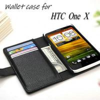 al por mayor caso de que uno x-Venta por mayor de lujo cartera diseño cuero funda para HTC uno X S720e G23 teléfono tapa con agarradera de tarjeta libro estilo 8 colores
