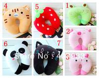 Cheap Wholesale-neck pillow 1pcs 4inch 10cm Plush toy cartoon animal car u pillow neck pillow siesta small pillow retail