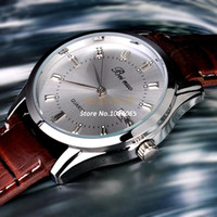 auto synthetics - Men Quartz Watches Business Watch Synthetic Leather Wristwatch Analog Watch Auto Date Display Function