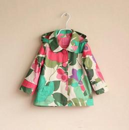 Wholesale Children s Tench coats Autumn Winter Fashion Children s Outwear baby girl hoodies children s outwear Flower girl outfit baby girl dust coa