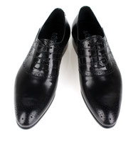 Wholesale original single leather shoes male business alligator shoes imported leather work shoes dress pattern