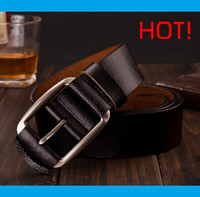 Wholesale new luxury pin buckle belts for men cheap fashion genuine leather jeans cintos with colors