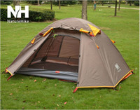 Cheap Wholesale-Mountaineering 3-4 Person Folding Tent Portable Aluminum Rod Anti-UV Camping Tents Outdoor Marquee For Children Kids Play House