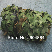 Wholesale New Green M M Hunting Camping Blinds Camouflage Net Woodlands Leaves Camo Cover Sun Shelter Tents