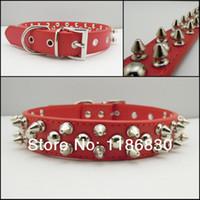 big black mushroom - Big Red fashion leather pet collars mushroom nail nail accessories