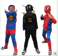 Wholesale 100PCS Boys Spiderman Batman Superman Zorro Costume tights Kids Halloween and Christmas costumes kids performance clothing DHL