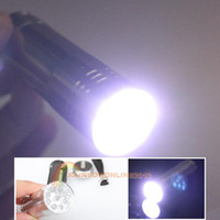 Wholesale R1B1 New Silver Mini Flashlight LED Small Hand Torch
