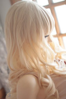 Cheap free shipping Blonde Heat Friendly Long Curly Wavy Princess Cosplay Party Hair Wig 26'' 65cm