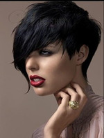 Wholesale Custom Top Quality Natural Soft Cheap Short Pixie Hair Cut Synthetic Wig