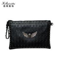 Cheap 2013 Fashion Lady Girl bags handbags women Skull Clutch Heads designer Handbag Single Shoulder Satchel,free shipping
