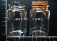Cheap Wholesale Fashion - 10 * 80ml Clear Glass Wishing Bottle With Cork, 10 Pcs Pack DIY Lucky Bottle, 50ml Glass Jar