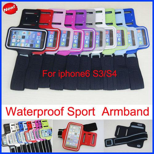 Buy Stylish Waterproof Sport Gym Running Armband Protector Soft Pouch Leather Case Apple iphone 6 4S 5 5C 5S Sports arm band Universal s3 s4