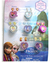 kids rings - New Girls Anna Elsa Doll Frozen Ring Sets Baby Girls Party Ring Kids Adjustable Ring As Christmas Xmas Gift