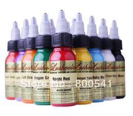 Wholesale LUSHCOLOR tattoo ink bottles colors ml bottle