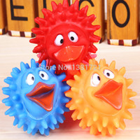 Cheap Large discount!The cross eyed ducks with big red mouth environmental protection material rubber pet toys dog and cat favorite