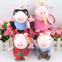 Wholesale EMS quot cm baby Toys muddy peppa george fairy peppa superman george plush anime doll peppa pig toys