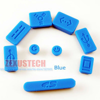 Wholesale 10set Silicone Data Port Anti Dust Plug For Macbook Pro Dust Stopper Cover Set For Laptop