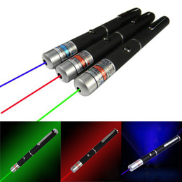 Wholesale 5mW nm Red Green Blue Purple Visible light Beam Laser Pointer Pen Flashlight SOS Mounting Night Hunting teaching Lazer Meeting Travel
