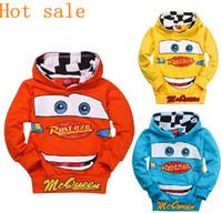 Boy Spring / Autumn Hooded Wholesale - - Retail Fashion kids boys hoodies Children's Cartoon Cars T shirt Sweatshirt car children hoody clothing