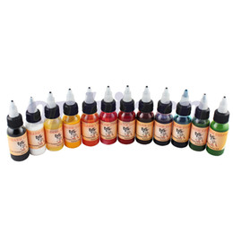 Wholesale OPHIR Color x ML Bottle Airbrush Body Art Paint for Temporary Tattoo Inks Pigment _TA053