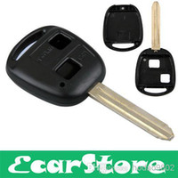 Wholesale 2 Button Remote auto Key Replacement Case Shell for TOYOTA CAMRY RAV4