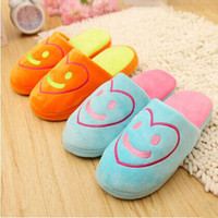 Cheap 2014 New summer Slippers smile linen slippers shoes for men and women couple home indoor floor slippers bottom family slippers