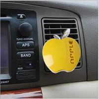 Wholesale 30pcs Car Interior Accessories Car Air Freshener Apple Shape Auto Air Outlet Perfume Aromas