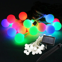 Wholesale 9M Leds Solar Led String Light Colorful Ball Light Waterproof Christams Fairy Lights For Party Weeding Decoration Outdoor Use