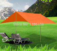 gazebo - outdoor m large awning gazebo anti UV sun shelter canopy hiking picnic sunshade for party include poles nails and wind rope