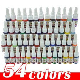 Wholesale ml ink for tattoo pigment High quality Professional draw tattoo body ink tattoo kit color choose