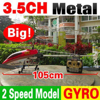 Cheap Free Shipping 105cm Huge Large Big 3.5CH RC Helicopter Metal Frame Gyro LED Radio Remote Control Electric Toy QS8005 QS 8005