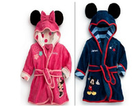 Wholesale Baby Bath Robes Baby Pajamas Children Pajamas Robe New Kids Micky Minnie Mouse Bathrobes Baby Cartoon Home Wear