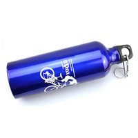 Wholesale Outdoor Sports Cycling Camping Bicycle Bike High strength Aluminum Alloy Double Insulation Water Bottle ml Metal Clip Blue