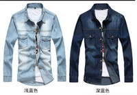 Wholesale Fashion Spring and Autumn men casual shirts fashion denim shirts with long sleeve men s jeans shirts