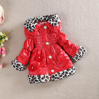 100% leather jackets - 2015 baby girl trench coat fashion baby coats children clothing girl s coats kids Peacoat