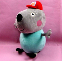 Wholesale EMS New Peppa pig s Friend Danny Dog quot CM Daddy Dog Torre Plush Toys Stuffed Dolls