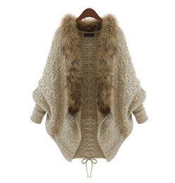 Wholesale 2014 autumn and winter new fashion ladies loose sweater Knitting Cardigan Bat shirt cape and poncho outwear