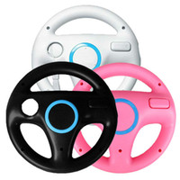 steering wheel for pc game - 3 x Black White Pink Steering Mario Kart Racing Wheel for Remote Game
