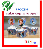 Wholesale Princess Cupcake Wrappers Toppers Picks cupcake liners Batman Party Decorations Kids Birthday Event Supplies cartoon paper sponge stand