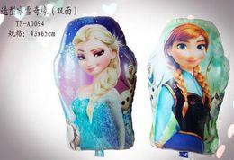 Wholesale 2014 New arrive hot frozen Anna Elsa tube foil Balloon Wedding Festival decoration balloon frozenC52